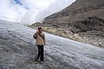 A Pasterze gleccser felső részén