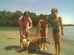 Zsemi és Gombi a lányokkal