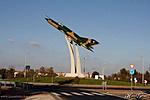 MiG-21-es emlékmű teljes pompájában (Fotó: Hamar György/soonfoto.hu