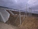 K-i oldali  mellette az R67 vadkerítése