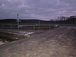 Az Egresi útról az új leágazás az aluljáró felé és a parkoló vége ahonnan a kép készült.