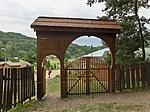 Csattogó-völgyi Pihenőházak bejárata