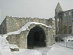 A kőtár bejárata