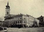 A Kálvin téri templomhoz csatlakozó épülettömb, melyben a Lónyay utcai épületek elkészültéig a gimnázium és az akadémiai is működött
