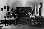 A Török Pál alapította Ráday Könyvtár olvasóterme az 1950-es években