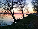 naplemente a sétányon