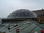 A kupola rézlemez fedése