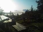 A Siljan tó a Digerberget ládától, a túlparton lakik a Mikulás!!!