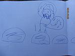 rajz a Mikulásról a Mikulásnak